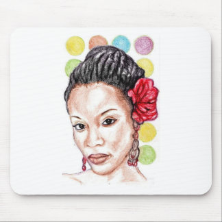 African American Beauty Mouse Pad