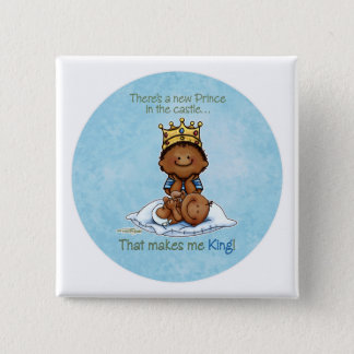 African American Big Brother - Prince 2 Inch Square Button