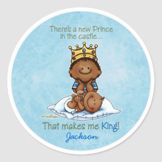 African American Big Brother - Prince Classic Round Sticker