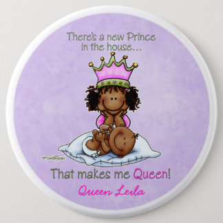 African American Big Sister of Prince 6 Inch Round Button