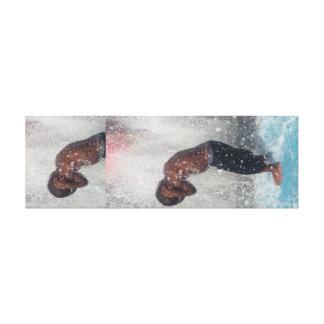 African American,Black,Male,Summer,Splash,Kid,Play Canvas Print