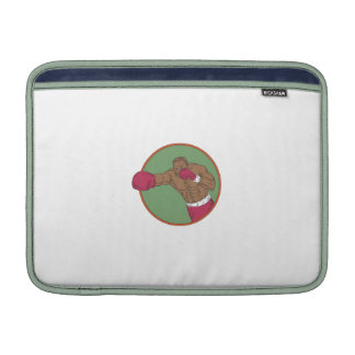 African-American Boxer Right Hook Circle Drawing MacBook Air Sleeve