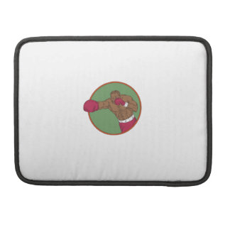 African-American Boxer Right Hook Circle Drawing Sleeve For MacBook Pro