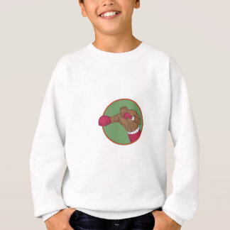 African-American Boxer Right Hook Circle Drawing Sweatshirt