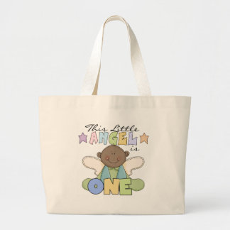 African American Boy 1st Birthday Tshirts Large Tote Bag