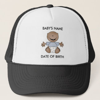 African American Boy Newborn Trucker Hat