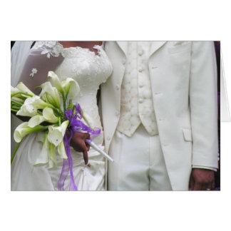 African American Bride & Groom Card