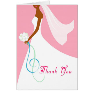 African American Bride - Thank You Cards