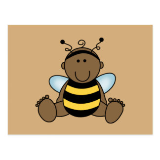 African American Bumble Bee Baby Postcard