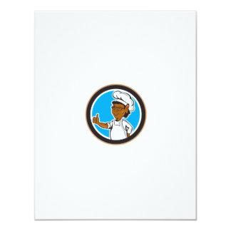 African American Chef Cook Thumbs Up Circle Personalized Invitations