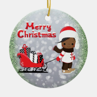 African American Christmas Ornament