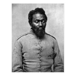 African American Civil War Soldier, 1861 Post Card