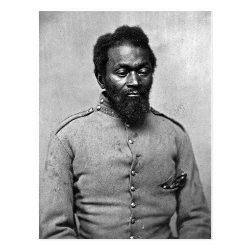 African American Civil War Soldier, 1861 Post Card