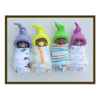 African-American Clay Babies: Polymer Clay Postcard