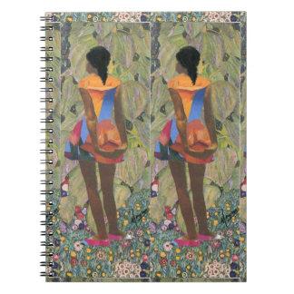 """African American"" collage garden stroll notebook"