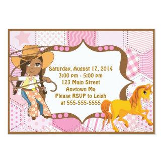 African American Cowgirl Birthday Invitation