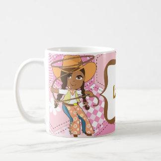 African American Cowgirl Mug with Name