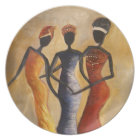 African American Designed plate