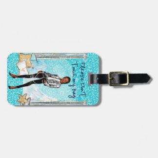 African American Fashion Girl luggage tag