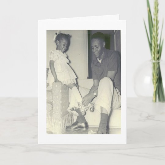 African-American Father And Daughter Birthday Card