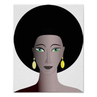 African American Female Portrait Poster