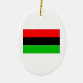 African American Flag Ceramic Ornament