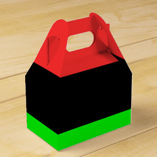 African American Flag Favor Box