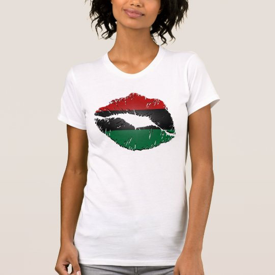 African American Flag Lips T-Shirt