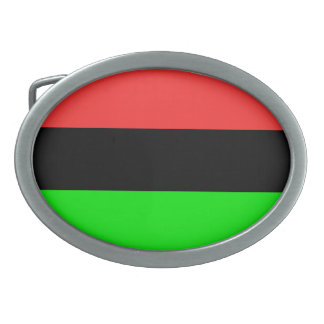 African American Flag Oval Belt Buckle
