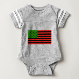 African American Flag - Red Black and Green Baby Bodysuit