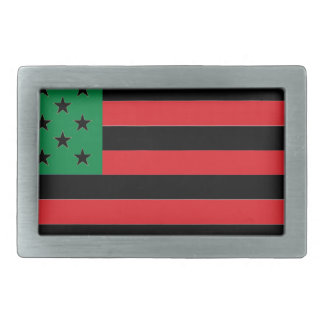 African American Flag - Red Black and Green Belt Buckles