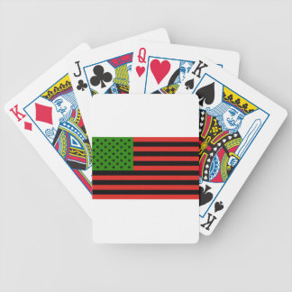 African American Flag - Red Black and Green Bicycle Playing Cards