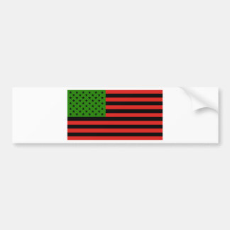 African American Flag - Red Black and Green Bumper Sticker