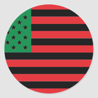 African American Flag - Red Black and Green Classic Round Sticker