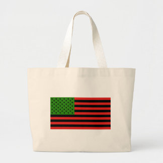 African American Flag - Red Black and Green Large Tote Bag