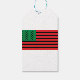 African American Flag - Red Black and Green Pack Of Gift Tags