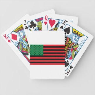 African American Flag - Red Black and Green Poker Deck