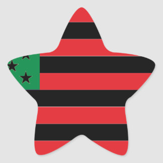 African American Flag - Red Black and Green Star Sticker