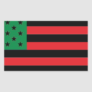 African American Flag - Red Black and Green Sticker