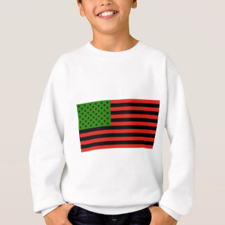 African American Flag - Red Black and Green Sweatshirt