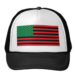 African American Flag - Red Black and Green Trucker Hat