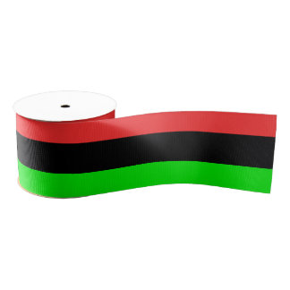 African American Flag Totally Grosgrain Ribbon