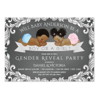 African American Gender Reveal Invitations