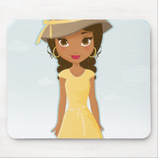 African American Girl Mouse Pad