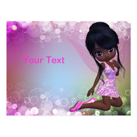 African American Girl Postcard
