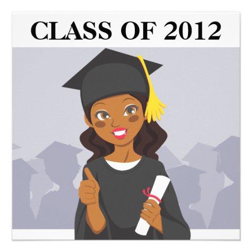 African American Graduate Personalized Invites