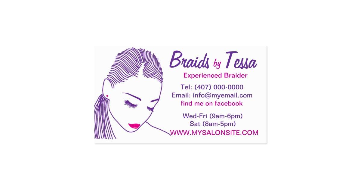 African American Hair Braiding Salon Business Card | Zazzle