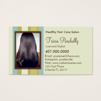 African American Hair Salon Appointment Card
