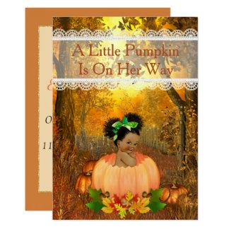 African American Halloween Baby Shower Card
