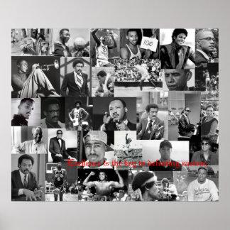 African american leaders poster